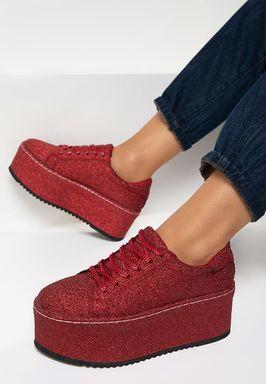 Sneakers cu platforma Elegance Rosii